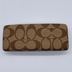 Coach Brown Canvas Logo Eyeglass Case